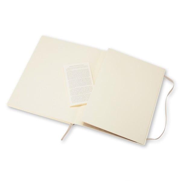 Szary notatnik z papierem w kropki Moleskine Hard
