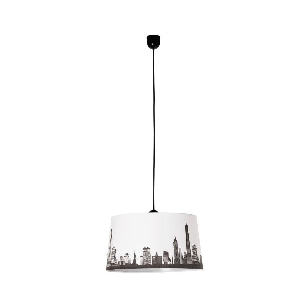 Czarno-biała lampa wisząca SULION Skyline
