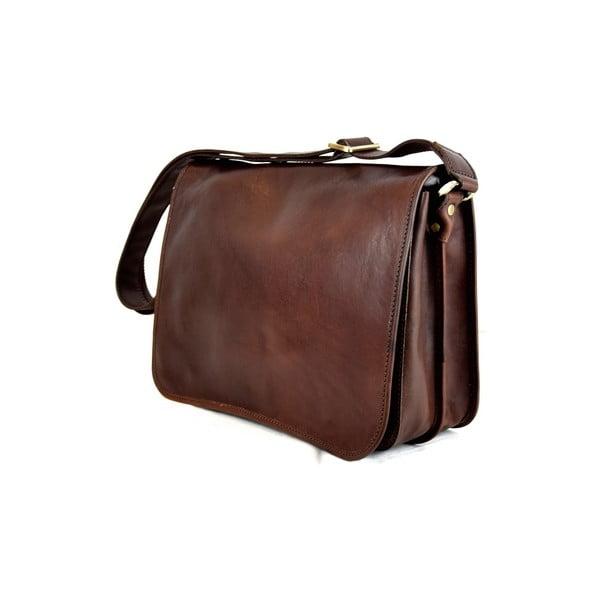 Skórzana torebka Santo Croce 8809 Dark Brown