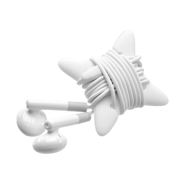 Słuchawki douszne z mikrofonem FIXED EGG2 i organizerem, białe