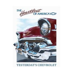 Blaszana tabliczka Heartbeat of America, 30x40 cm