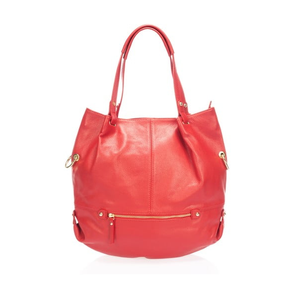 Skórzana torebka Piscila, czerwona