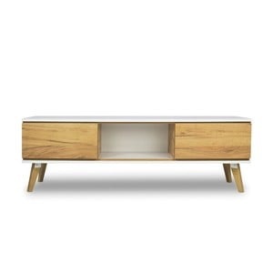 Szafka pod TV z dekorem drewna SKANDICA Jorgen