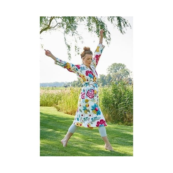Biały szlafrok damski Pip Studio Floral Fantasy, rozm. S