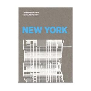 Mapa Nowego Jorku z przezroczystymi kartkami na notatki Transparent City