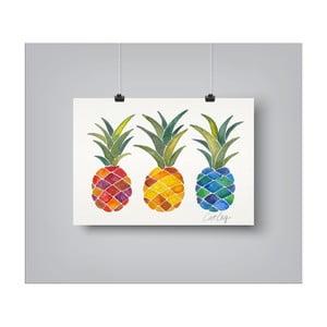 Plakat Americanflat Pineapples Rainbow, 30x42 cm