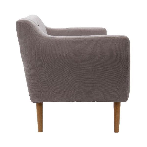 Sofa trzyosobowa VIVONITA Kelly Light Brown, naturalne nogi