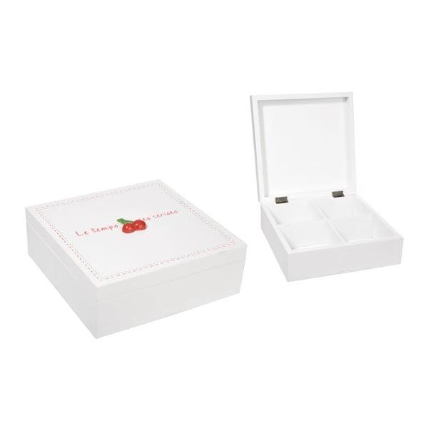 Pudełko La Cerise z przegródkami, białe