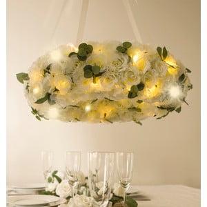Wieniec ślubny z lampkami LED Rose Wreath