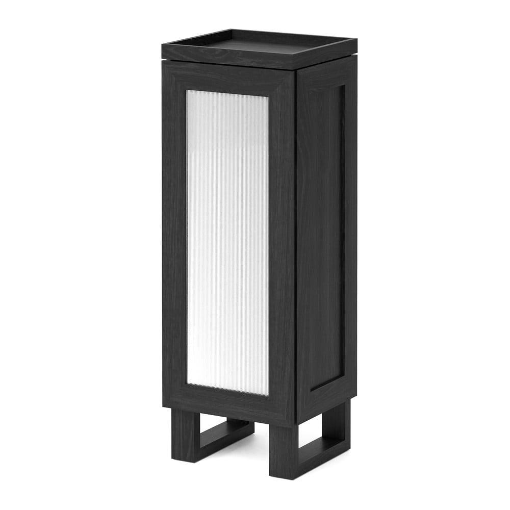 Czarna szafka łazienkowa z drewna dębowego Wireworks Mezza