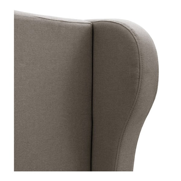 Szare łóżko z czarnymi nóżkami Vivonita Windsor, 160x200 cm