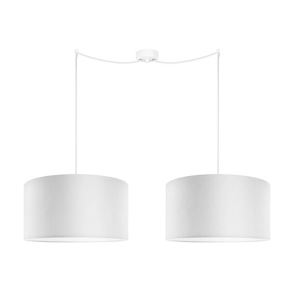 Dwuramienna lampa wisząca Cero Tres, biała. średnica 40 cm