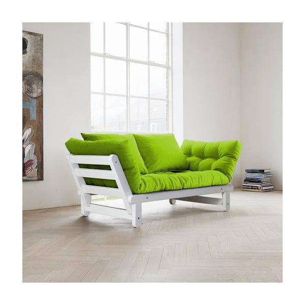 Sofa rozkładana Karup Beat White/Lime