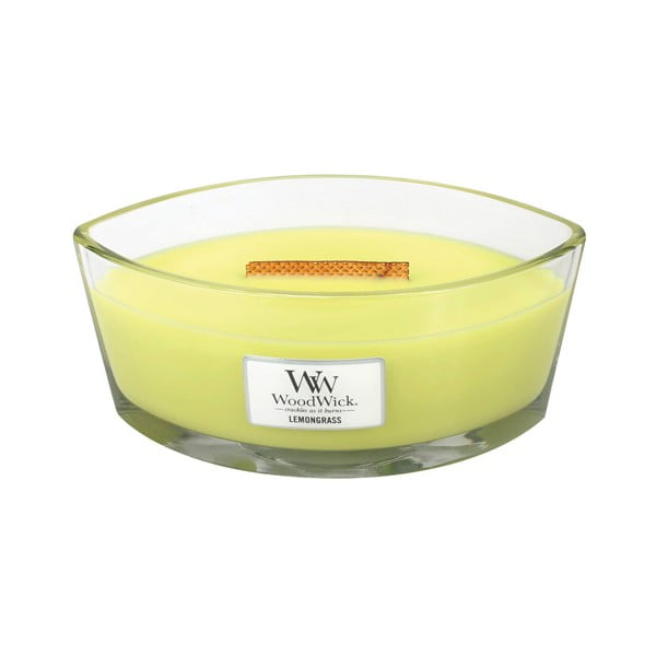 Świeczka zapachowa WoodWick Trawa cytrynowa i lilia 453 g, 50 godz. palenia