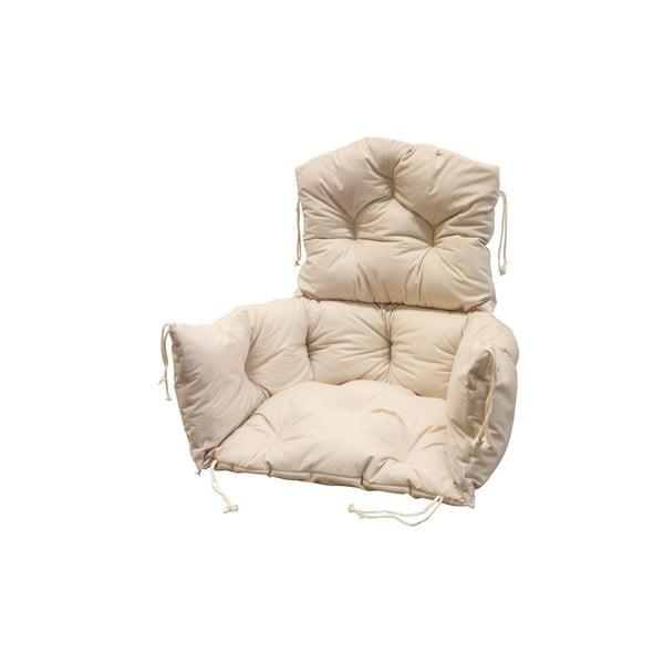 Wiklinowy fotel wiszący Lena, biała konstrukcja/kremowe siedzisko