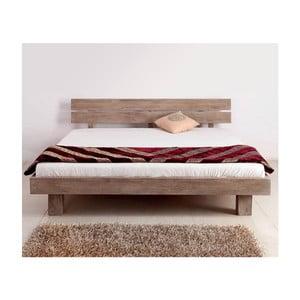 Łóżko dwuosobowe z palisandru Massive Home Riva II, 180x200 cm