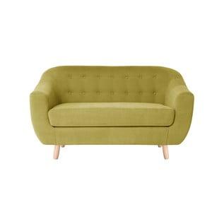 Sofa dwuosobowa Vicky, żółta
