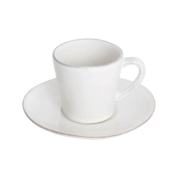 Biała ceramiczna filiżanka ze spodkiem Ego Dekor Nova,70ml