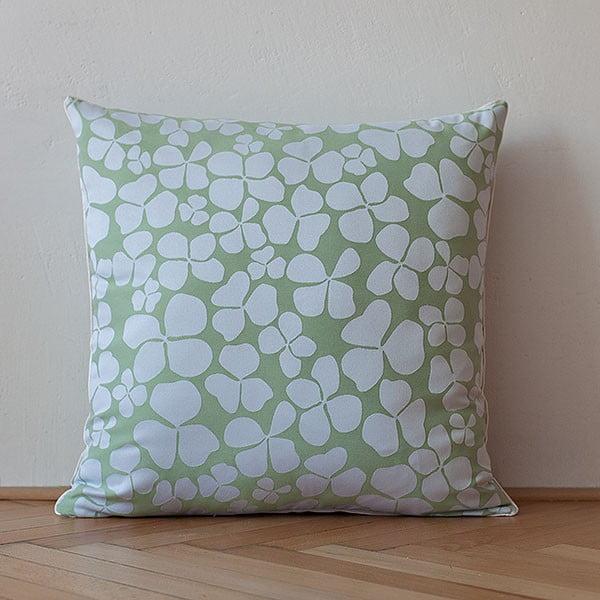 Poduszka z wypełnieniem Light Green Flowers, 50x50 cm
