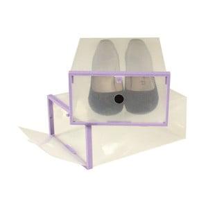 2 pojemniki na buty Purple Shoe