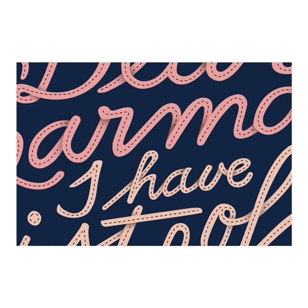 Plakat Dear Karma Pink, 42x42 cm