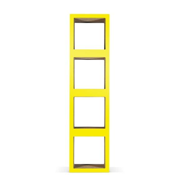 Kartonowa biblioteczka Bit Quattro Yellow