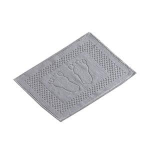 Szary bawełniany dywanik łazienkowy Verge Bath Mat Linse, 50x70 cm