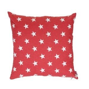 Czerwona, świąteczna poszewka na poduszkę Apolena Shine Stars, 43x43 cm
