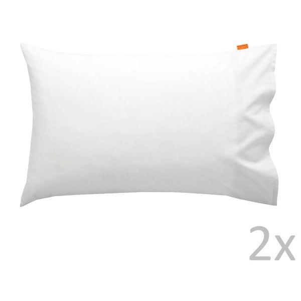 Zestaw 2 białych poszewek na poduszki HF Living Basic, 50x80 cm