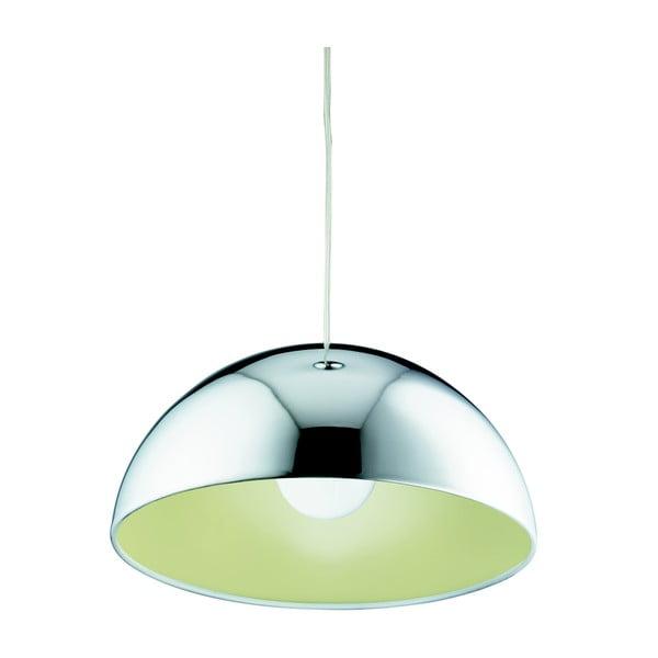 Lampa wisząca Searchlight Domas, chromowana/żółta