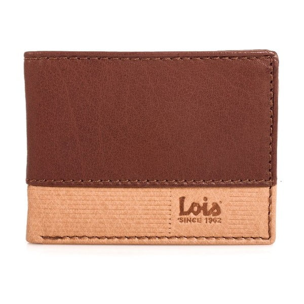 Skórzany portfel Lois Natural, 11x8 cm