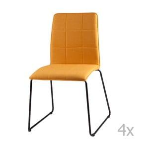 Zestaw 4 żółtych krzeseł sømcasa Malina