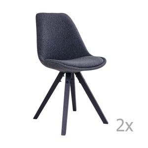 Zestaw 2 szarych krzeseł do jadalni House Nordic Bergen