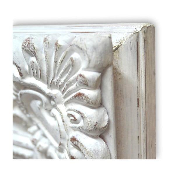 Lustro z drewnianą ramą Antique White, 85x115 cm