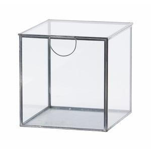 Szklany pojemnik Agape Silver, 19 cm