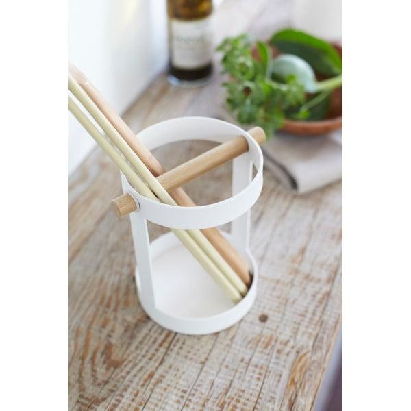 Biały stojak na przybory kuchenne Yamazaki Tosca