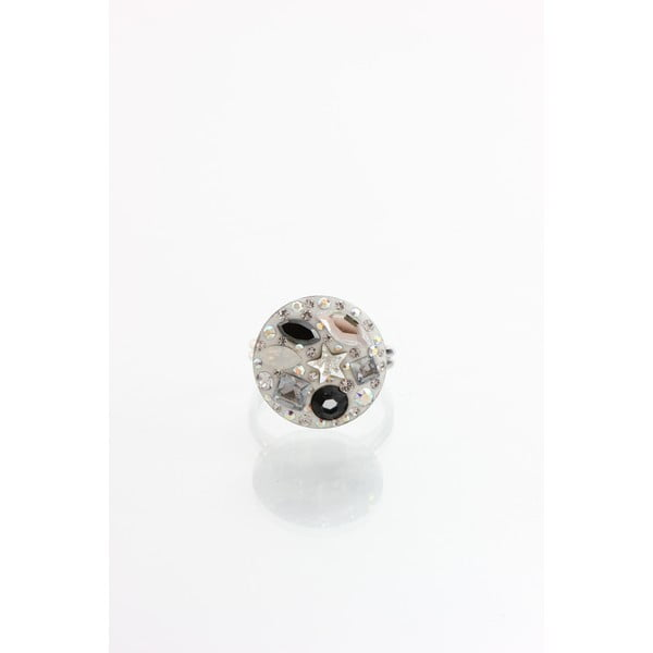 Pierścionek Laura Bruni ze Swarovski Elements Jet, 18 mm
