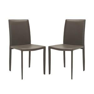 Komplet 2 krzeseł Karna, szare