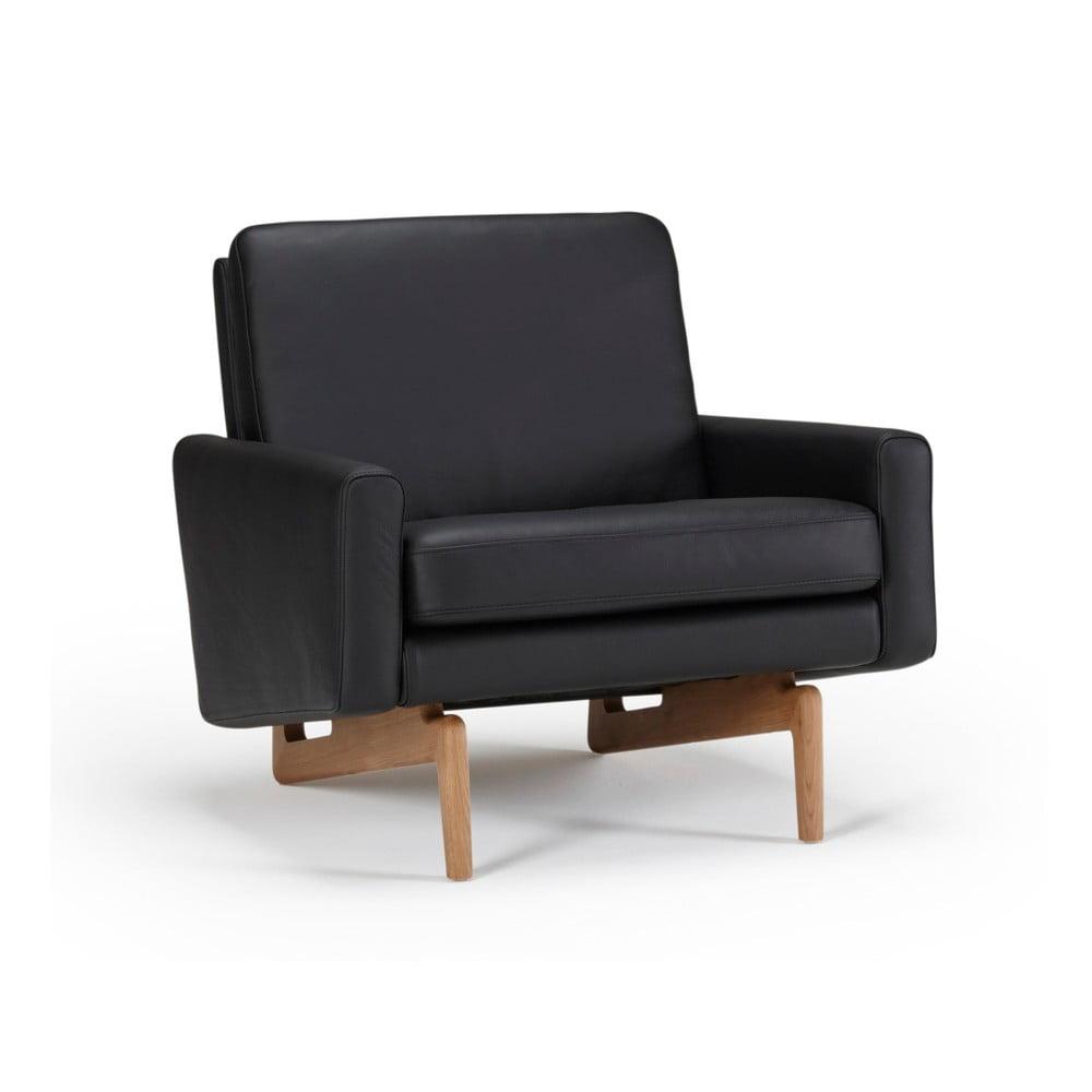 aa2e473661f31 Czarny fotel skórzany Kragelund Egsmark | Bonami