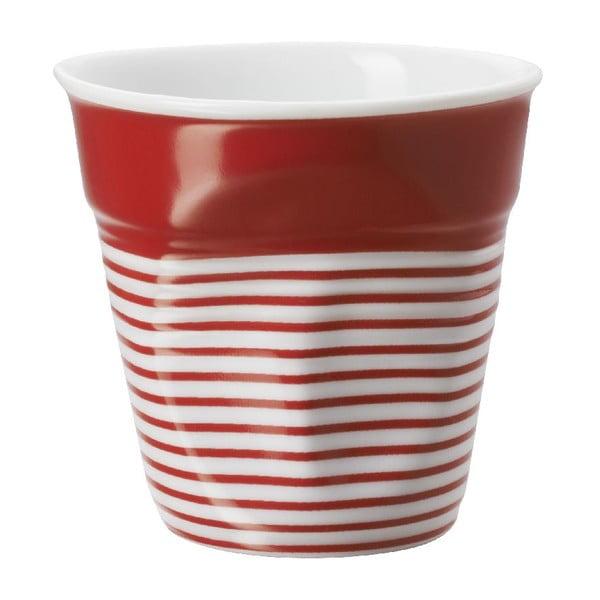 Filiżanka na espresso Froisses 8 cl, czerwono-biała