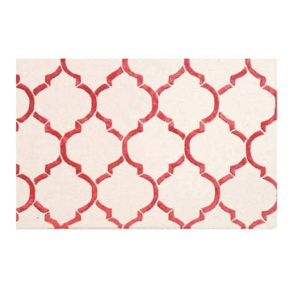 Dywan tuftowany ręcznie Bakero Chain Red, 122x183 cm