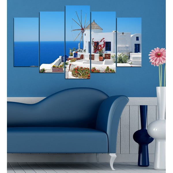 5-częściowy obraz Z widokiem na morze