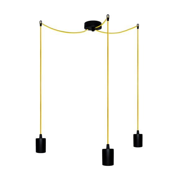 Trzy wiszące kable Zero, żółty/czarny