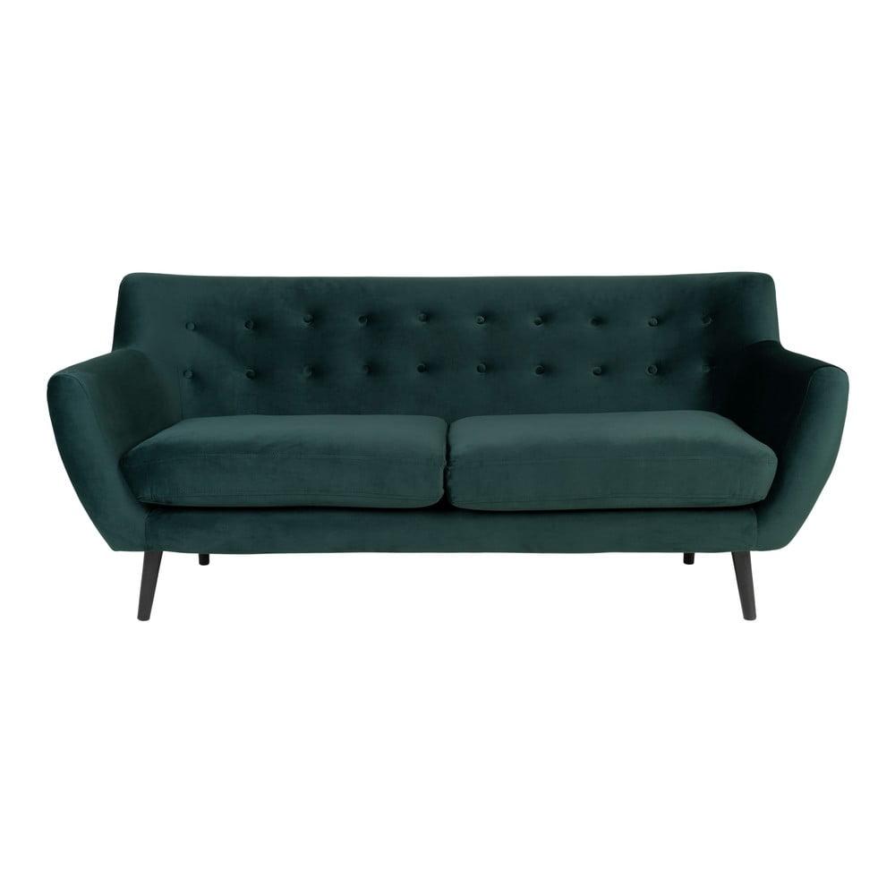 Ciemnozielona aksamitna sofa House Nordic Monte