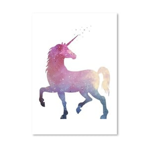 Plakat Americanflat Multi Unicorn, 30x42 cm