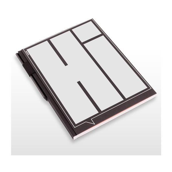 Szkicownik z ołówkiem Hi, 21x29,7 cm