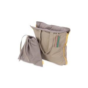 Przenośne siedzisko + torba Hhooboz 100x50 cm, beżowe