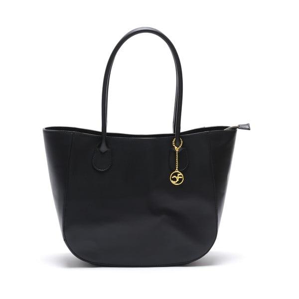 Skórzana torebka Cuco, czarna