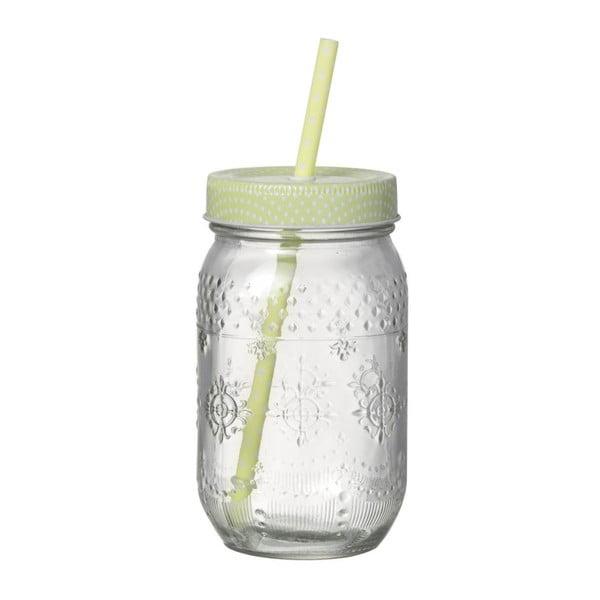 Szklanka ze słomką Straw Green
