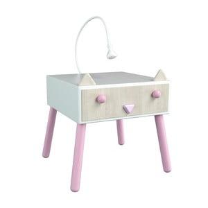 Nocny stolik z różowymi elementami Dotties Kotek